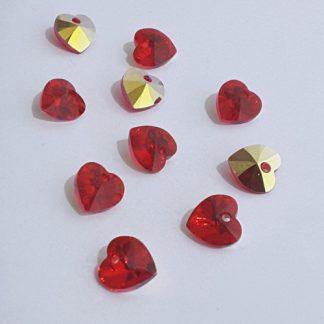 swarovski crystal heart pendants